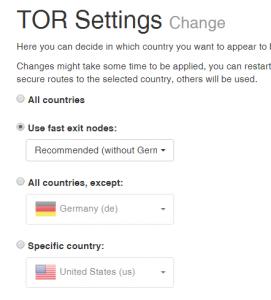 Land auswählen zum anonym surfen YouTube entblockieren