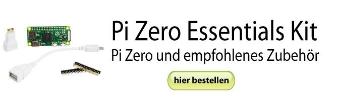 Pi Zero Essentials Kit - Pi Zero und das nötige Zubehör