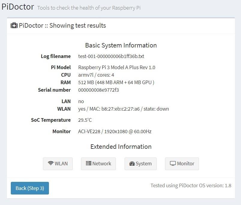 PiDoctor, a free online tool to check Raspberry Pi computers - pi3g com
